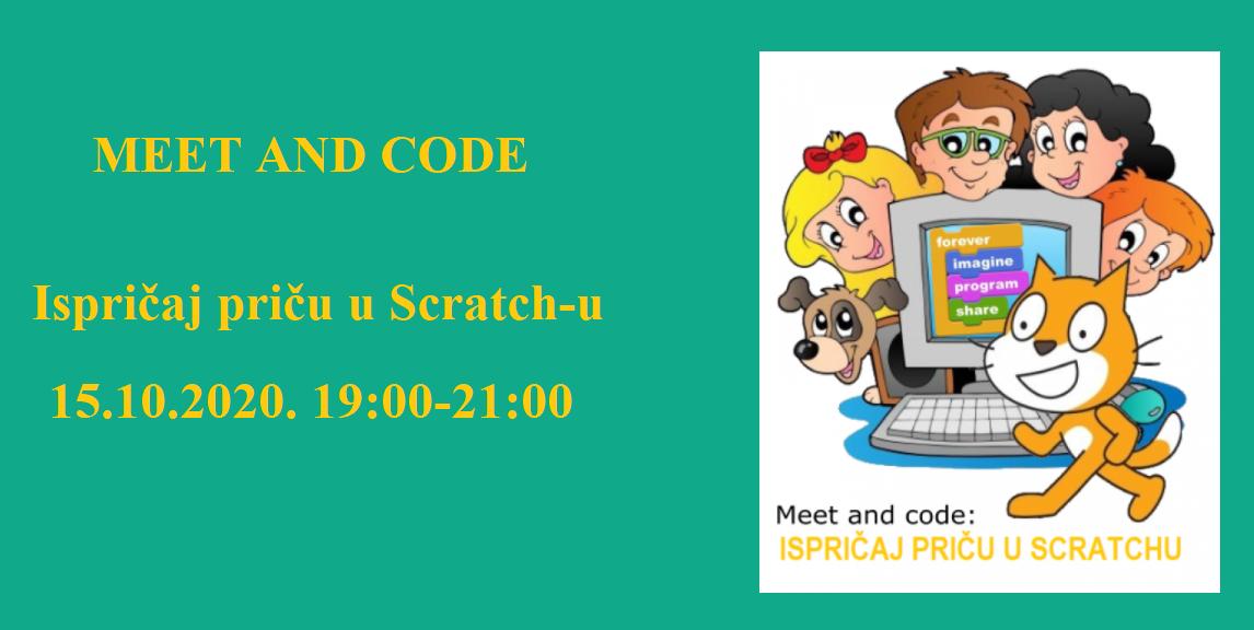 """Besplatna online radionica- """"Ispričaj priču u Scratch-u"""""""